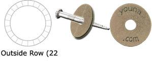 """Imagen de Brass Washers 1.5"""" x 9/16"""" (Stamped)"""