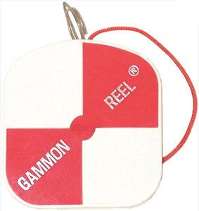 Imagen de Gammon Reel 6-1/2 ft. White & Orange, Red-Orange String