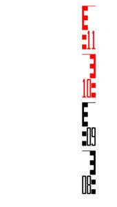 Imagen de SVR Fiberglass Leveling Rod, 5m, Metric 98023