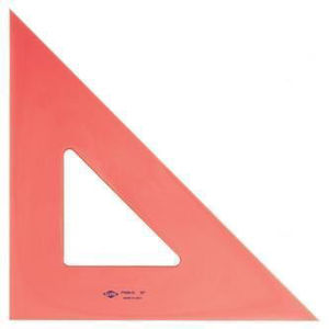 """Picture of Alvin FT450 12"""" Florescent Ink Edge Triangle 45/90 Degrees"""