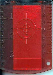 Imagen de Red Laser Target with Magnetic Base