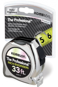 Picture of Komelon- The Professional 33ft. Chrome Tape Measure- 1001599-01